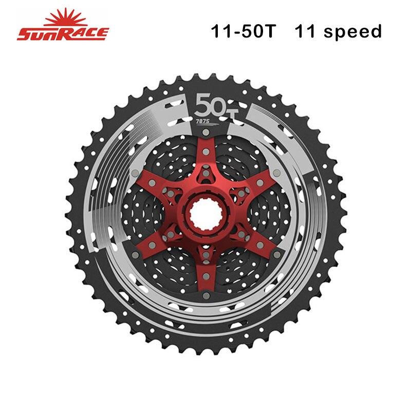 Sunrace Road MTB Bike Freewheel CSMX8 Cassette 11 speed 11 50T Black Silver 50T 11s for