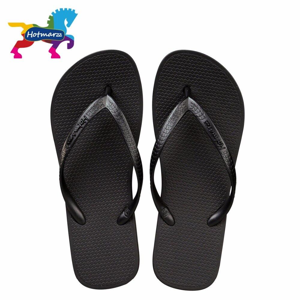 Hotmarzz Women Slim Black Flip Flops Summer Beach Sandals -9472