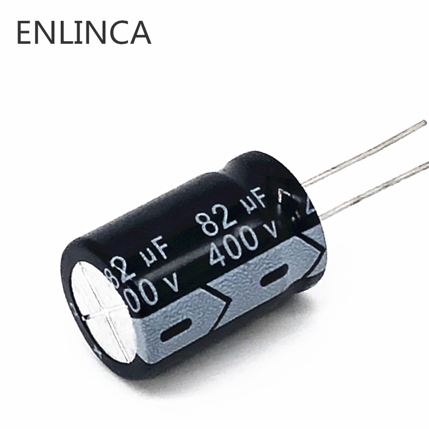 2pcs/lot 400V 82UF High Frequency Low Impedance 400V82UF Aluminum Electrolytic Capacitor Size 18*25 20%
