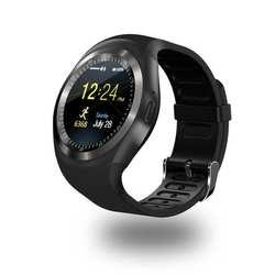696 Bluetooth Y1 Смарт-часы Relogio Android SmartWatch Телефонный звонок GSM Sim удаленного Камера информации Дисплей Спорт Шагомер