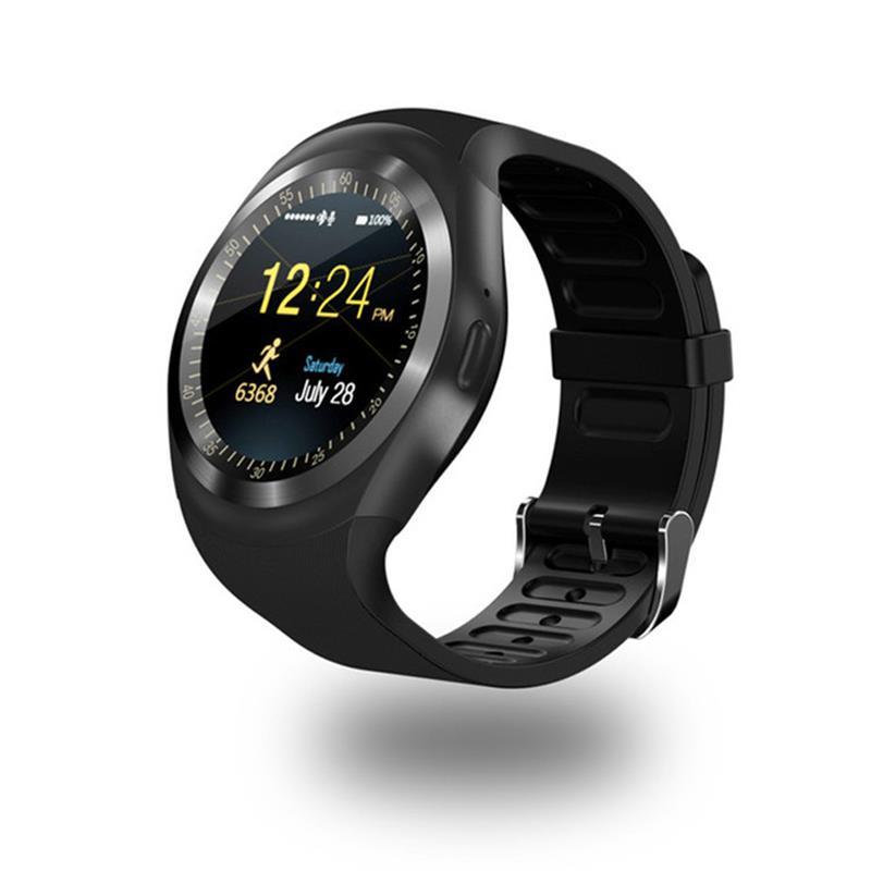 696 Bluetooth Y1 inteligente reloj Android SmartWatch llamada de teléfono GSM Sim Cámara de Control Remoto pantalla de información de deportes del podómetro