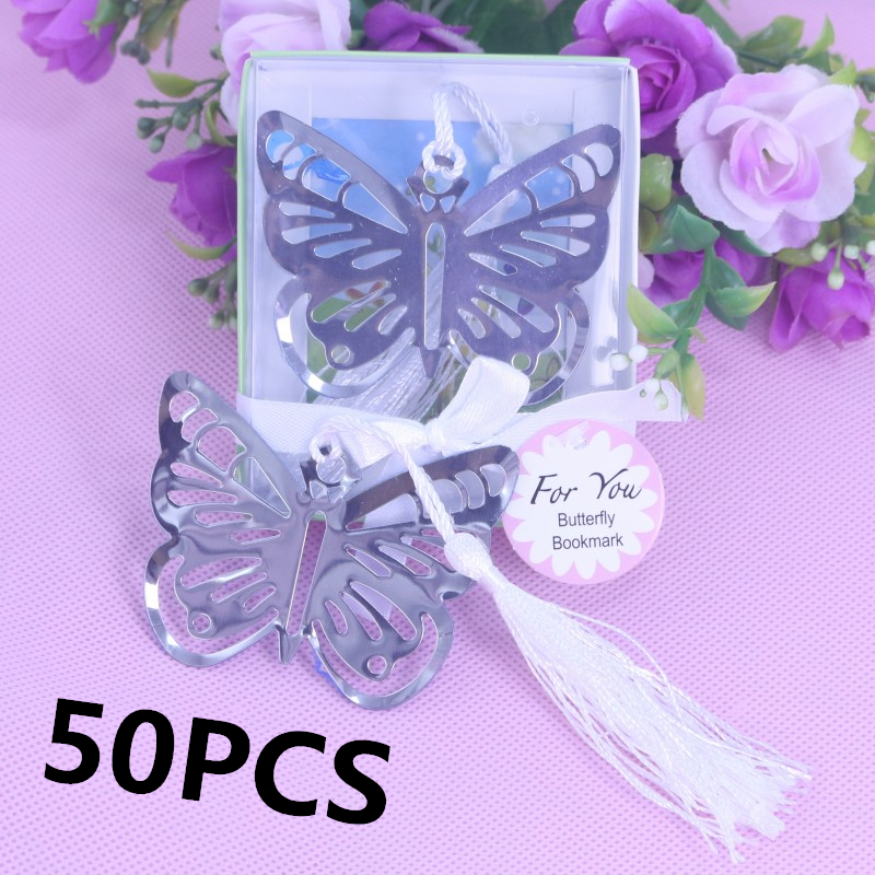50 Pcs Butterfly Bookmark Favors For Holy Communion Girl Baby Shower
