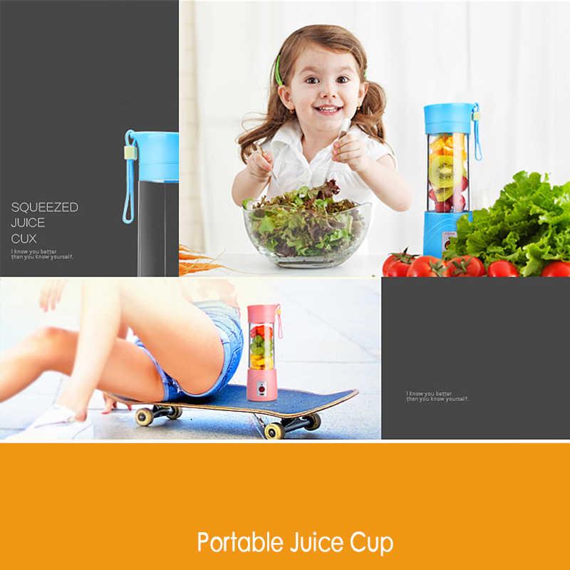 USB соковыжималка чашка смешивание фруктов машина портативный персональный Размер Eletric Аккумуляторный миксер блендер бутылка для воды 380 мл с USB