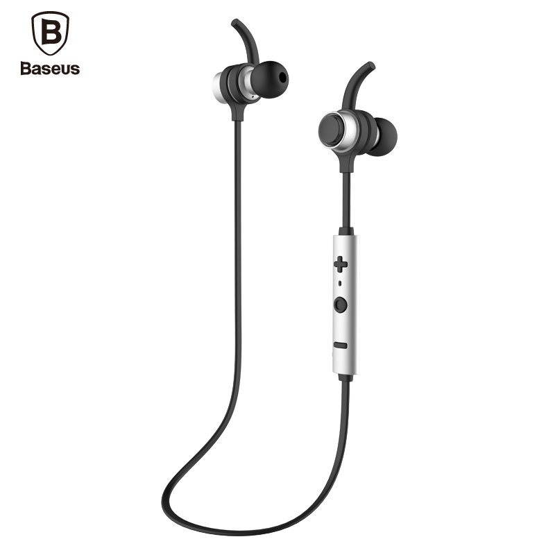 Baseus comma Professional In-Ear Earphone Metal Heavy Bass Sound Quality Music Earphone Magnet Headset fone de ouvido Bluetooth professional earphone metal heavy bass music earpiece for highscreen power ice evo ice max headset fone de ouvido with mic