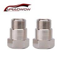 SPEEDWOW 2 sztuk M18 * 1.5 czujnik tlenu czujnik Extender 02 Bung adapter rozszerzenia O2 Spacer w Czujniki tlenu w układach wydechowych od Samochody i motocykle na
