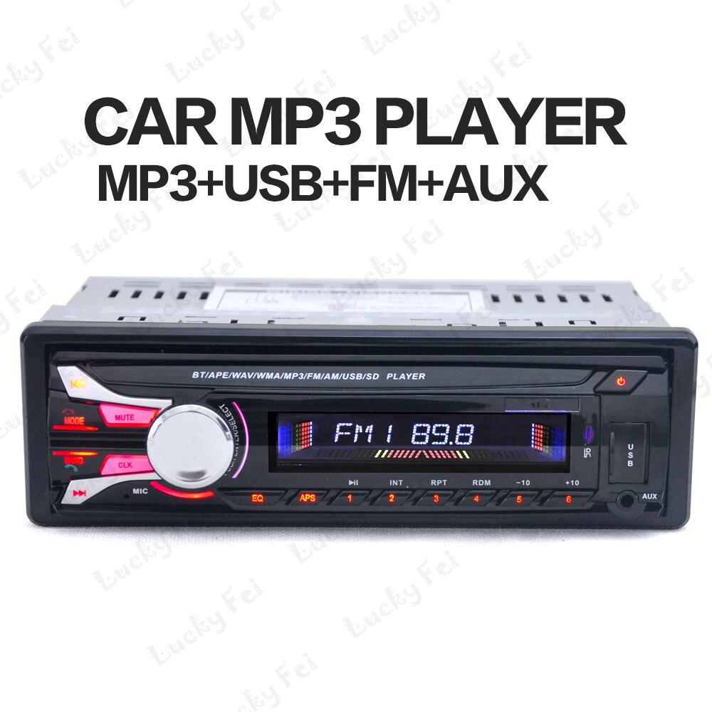Nouveau FM De Voiture Radio 12 V Bluetooth V2.0 MP3 Audio Lecteur amovible dechatable avant panneau MP3 fonction FM/USB/SD/En-Dash 1 DIN