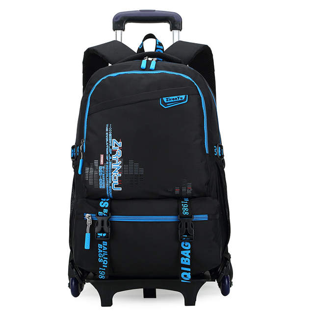 e79e18ad76 Online Shop Children Rolling School Backpacks 2 6 Wheels Boys Girls Trolley  School Bags Letters Kids Backpack on Wheels Suitcase Bookbag