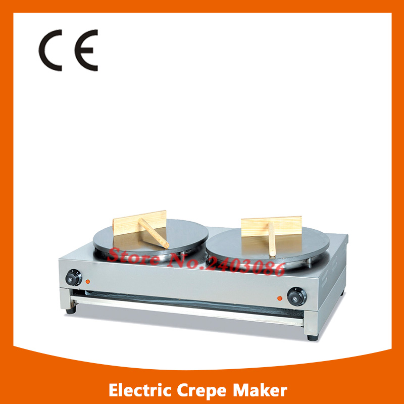 Two-head Commercial Crepe Maker/Electric Pancake Maker 220V shipule 2017 new high quality gas crepe maker two head commercial crepe making machine price