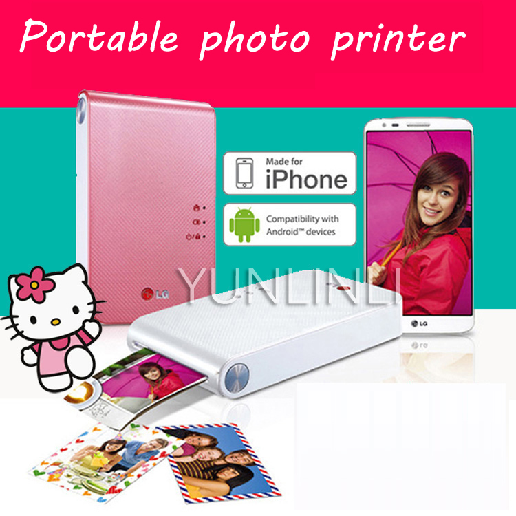 Portable Photo Printer PD239 Mini Color Printing Machine with Bluetooth Wireless Camera Portable Pocket Pinting Machine image
