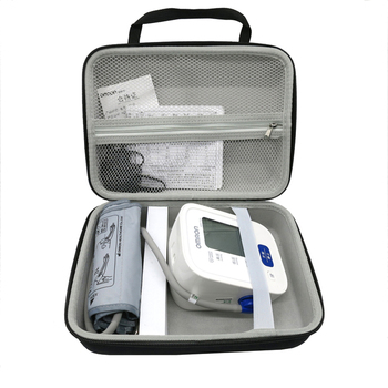 2018 Newest EVA Nylon Hard Cover Box Case for Omron 7124 71 Series Wireless Upper Arm Blood Pressure Monitor Travel Storage Bag 1