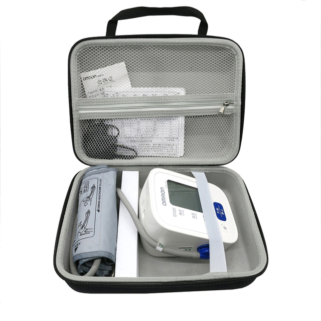 Caja de cubierta dura de Nylon EVA para Omron 2018 71, Monitor de presión arterial de brazo inalámbrico, bolsa de almacenamiento de viaje, novedad de 7124