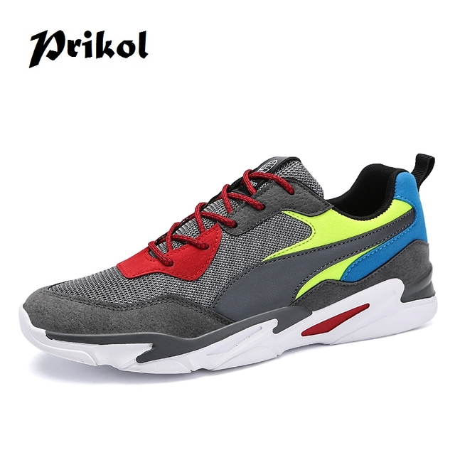the latest 926e9 26e63 Prikol Vintage Style Colorful Men Sport Shoes Summer Leather Man Sneaker  Hombre Tennis Footwear Zapato Calcado