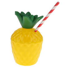 10pcs Plastic Pineapple Drinking Cup Fruit Shape Juice Cups Hawaiian Beach Party Birthday Summer Swimming Pool Party Favors стоимость