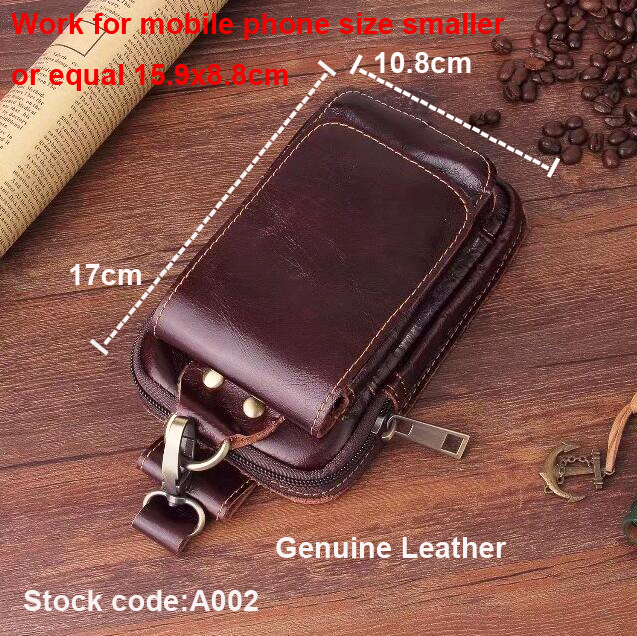 Belt Clip Man Genuine Cow Leather Mobile Phone Case Pouch For Galaxy S8/S8+/S8 Plus/Note edge/Note 5/S7 edge/S6 EDGE Plus