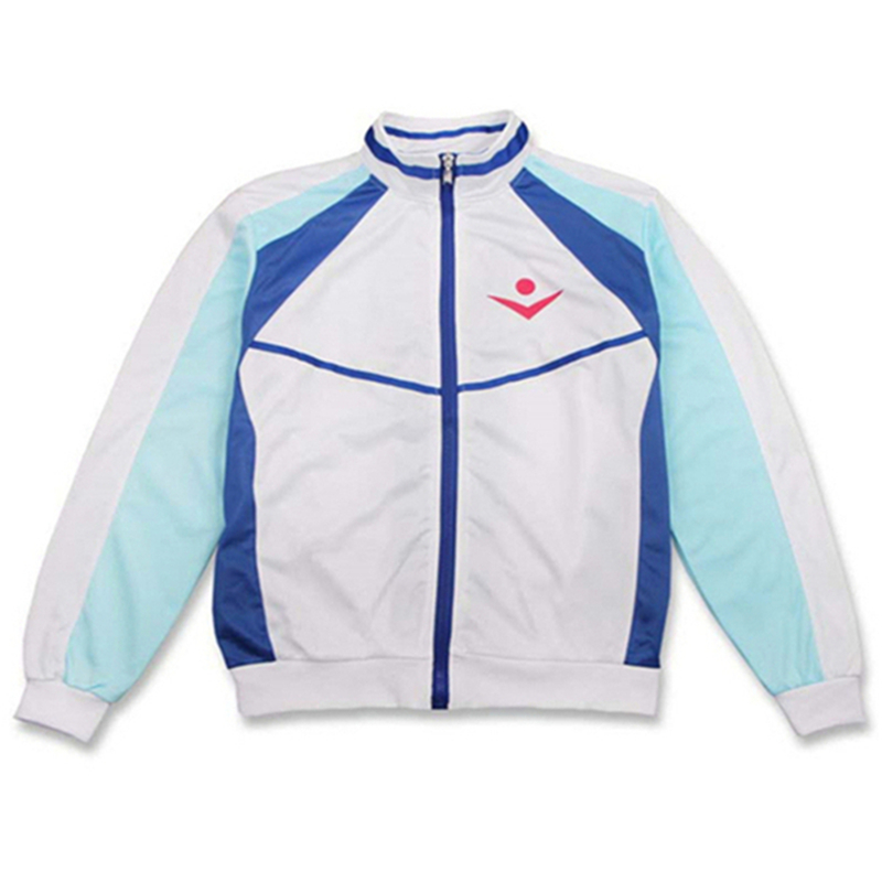 Cosplay free! Men's Swimming Series Apparel Sports Zipper High School Long Sleeve Suit Jacket Uniforms Men and women Applicable