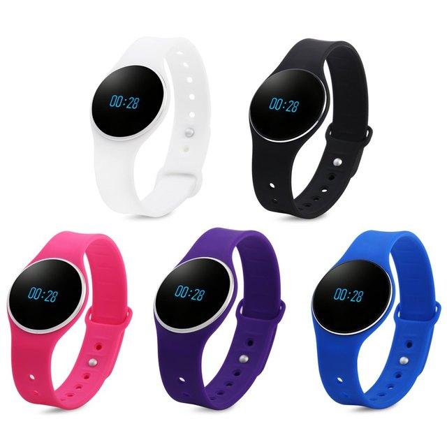 L16 Pulseira Inteligente Relógio Bluetooth 4.0 Lembrete SMS Rastreador Sono Queima de Calorias relógio de Pulso Com Cores Encantadoras Para Esportes