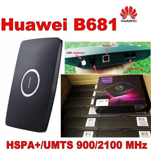 הרבה 500 יחידות סמארטפון Huawei B681 3 גרם UMTS HSPA + WCDMA כרטיס ה-SIM 28.8 300mbps נתב אלחוטי WPSwith חריץ