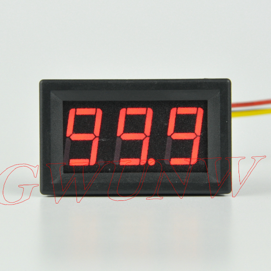 GWUNW BY356V DC 0-99.9(100)V 3 bit digital voltmeter Panel Meter <font><b>Voltage</b></font> Tester Meter image