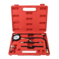 Fuel Injection Pump Pressure Tester Injector Test Pressure Gauge Set W Case Auto Diagnostics Tools