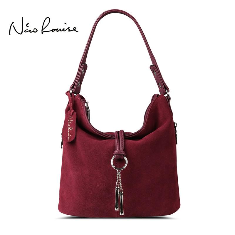 cc9f2d6ae8 2017 Fashion Women Split Leather Shoulder Bag Female Suede Casual Crossbody handbag  Lady Messenger ...