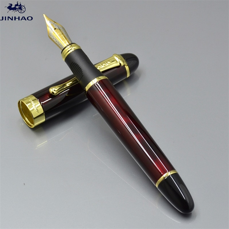 classic JINHAO X450 M nib dark red metal Fountain Pen with Gold Clip school office stationery brand writing ink pens gift A5 гарнитура skullcandy ink d with mic dark red s2ikhy 481
