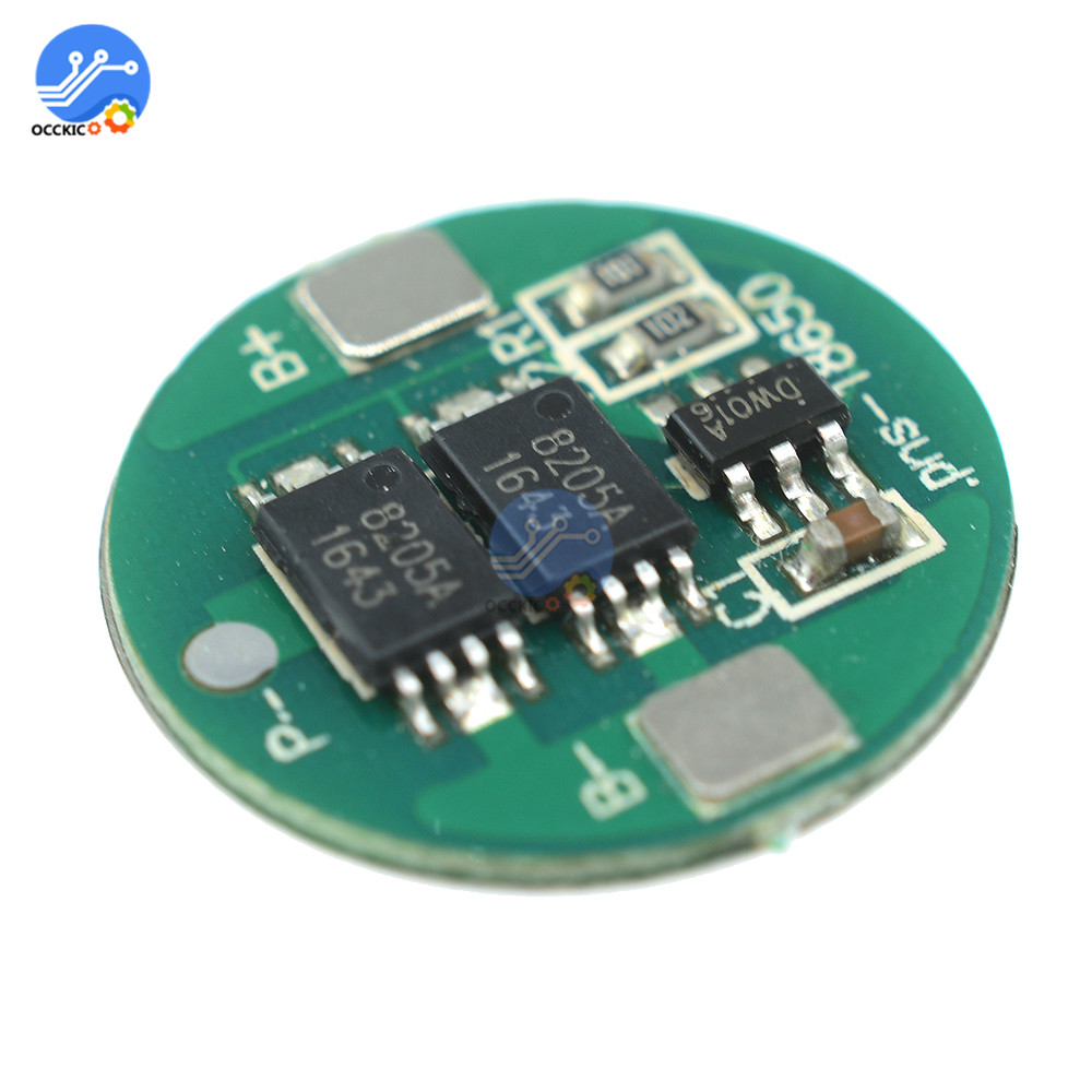 10Pcs 18650 Battery Protection Board BMS Dual MOS Lithium 18650 Battery Power Bank Balancer Charger Protect Module