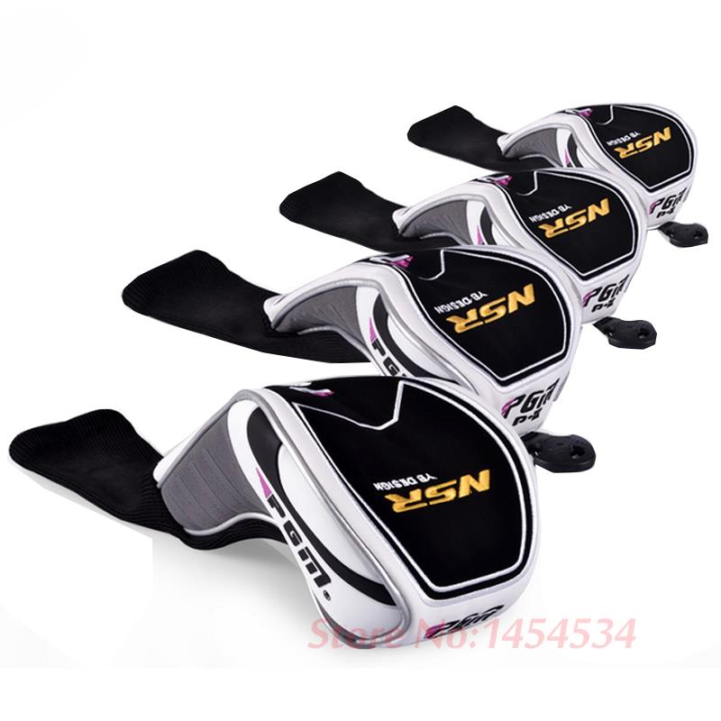 High Quality Brand New Golf Irons Club Headgear Complete Set PU Driver 7 8 9 /Putter 1 3 5 Cover Wood Club Cover Headcover Set