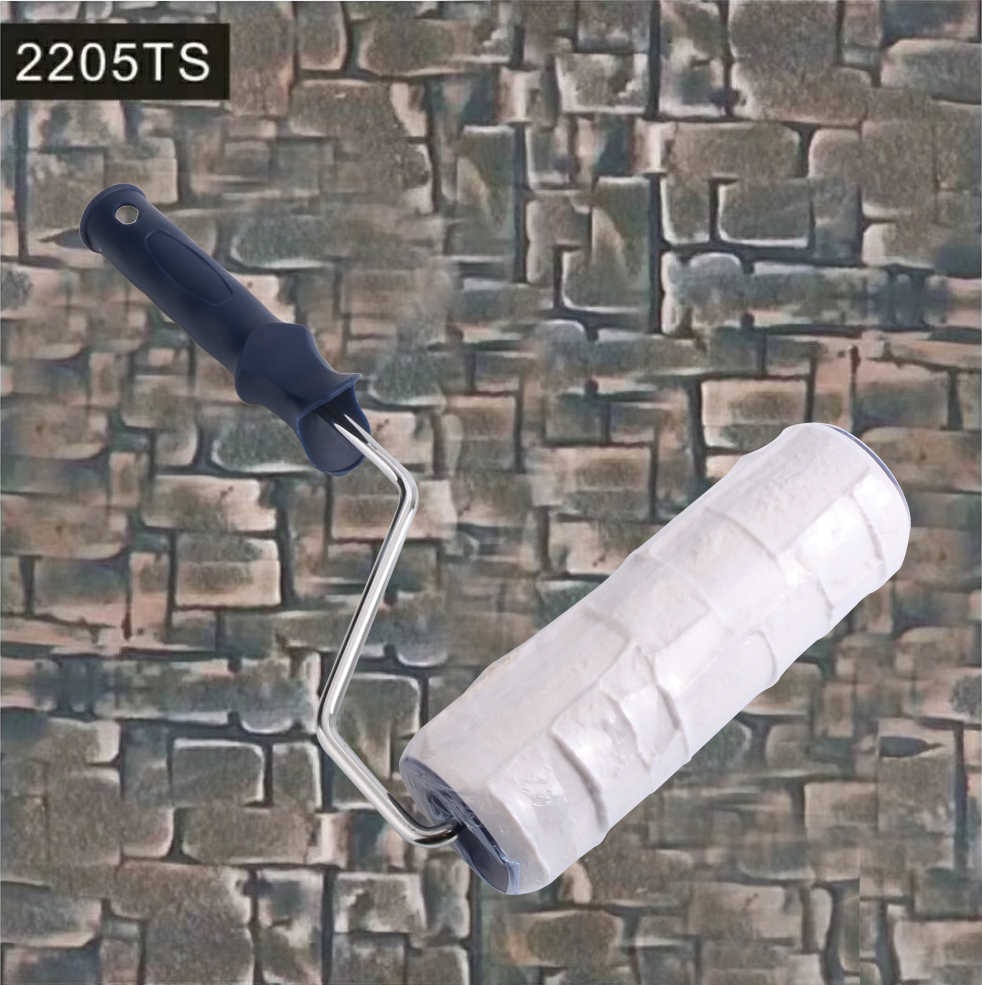 Rodillo De Pintura estampado De goma decorativo Iwata Rolo De Pintura De pared herramientas De Pintura De tinta rodillo imitar piedra jardín camino 2205TS