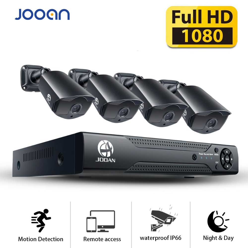 JOOAN 8CH 1080N CCTV DVR Sistema di Sicurezza Domestica Fotocamera 1080 p Impermeabile di Video Sorveglianza Esterna Kit di videosorveglianza