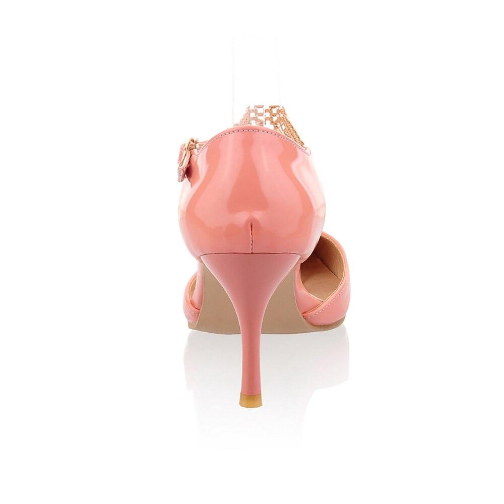 Talon Abricot Rose Em034Plus 43 Scintillant 46 pink Doux 30 Apricot white Blanc De Grande Taille Parti Brand New Chaussures Mode Sandales Haute Femmes gold yellow Lady Robe A534LqRj
