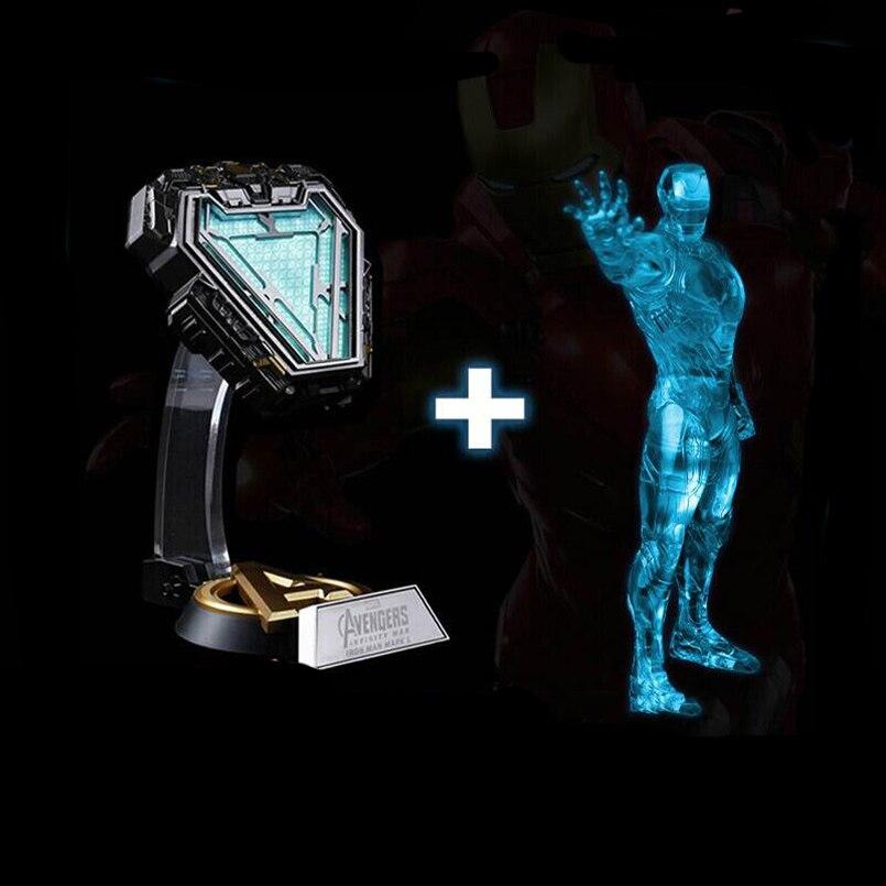 Avengers 1:1 fer homme Arc réacteur Prop Repica figurine jouets bricolage lumière à distance bricolage Arc MK fer homme modèle assemblé lampe de poitrine