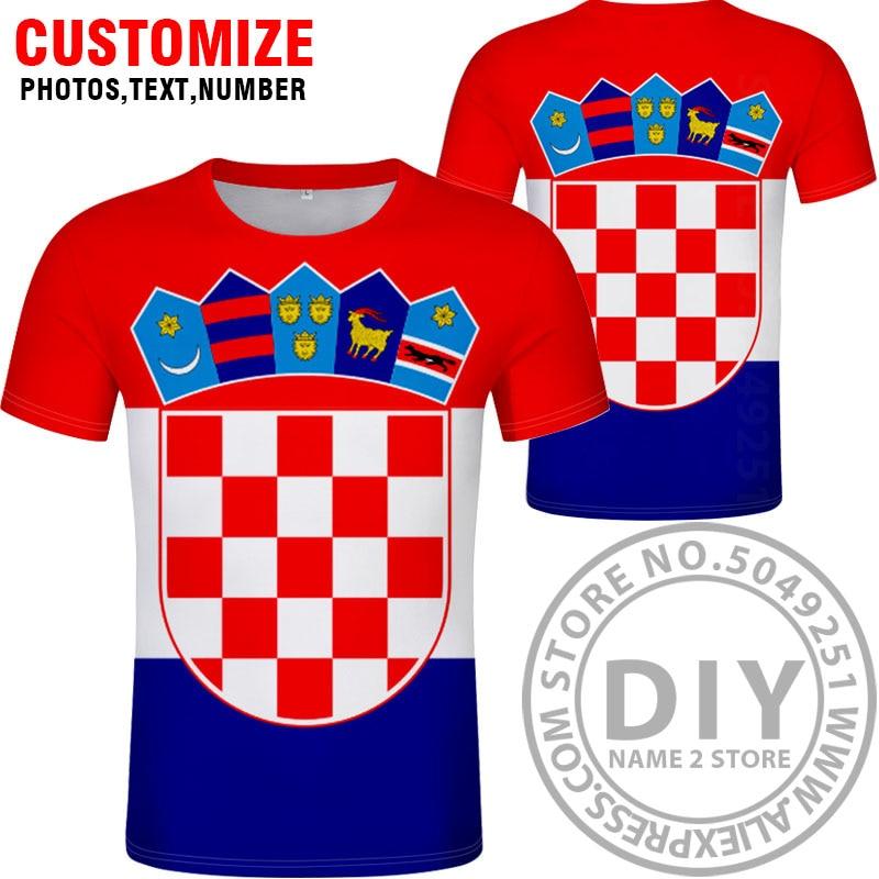 Image 2 - CROATIA t shirt diy free custom name number hrv t shirt nation flag croatian country hrvatska republic print photo logo clothing-in T-Shirts from Men's Clothing