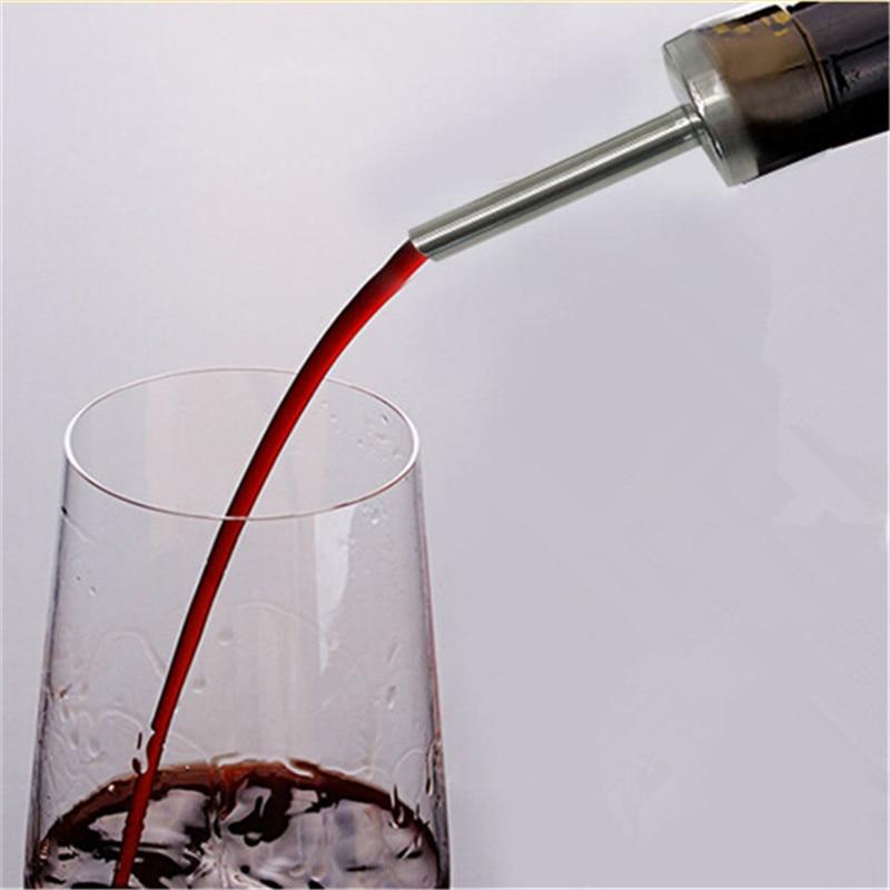 1 Pc Rvs Nieuwe Wijn Schenker Decanter Wijn Beluchter Tuit Pourer Draagbare Wijn Beluchter Schenker Wijn Bar Accessorie
