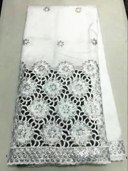 Горячая Распродажа, белый Африканский Джордж, кружевная ткань с серебряными блестками, цветок, французский кружевной материал для вечеринк