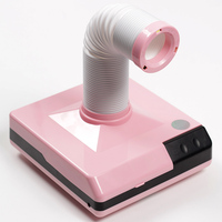 60w Strong Power nail suction dust collector nail dust collector Pink/white Vacuum Cleaner Nail Fan Art Salon manicure machine