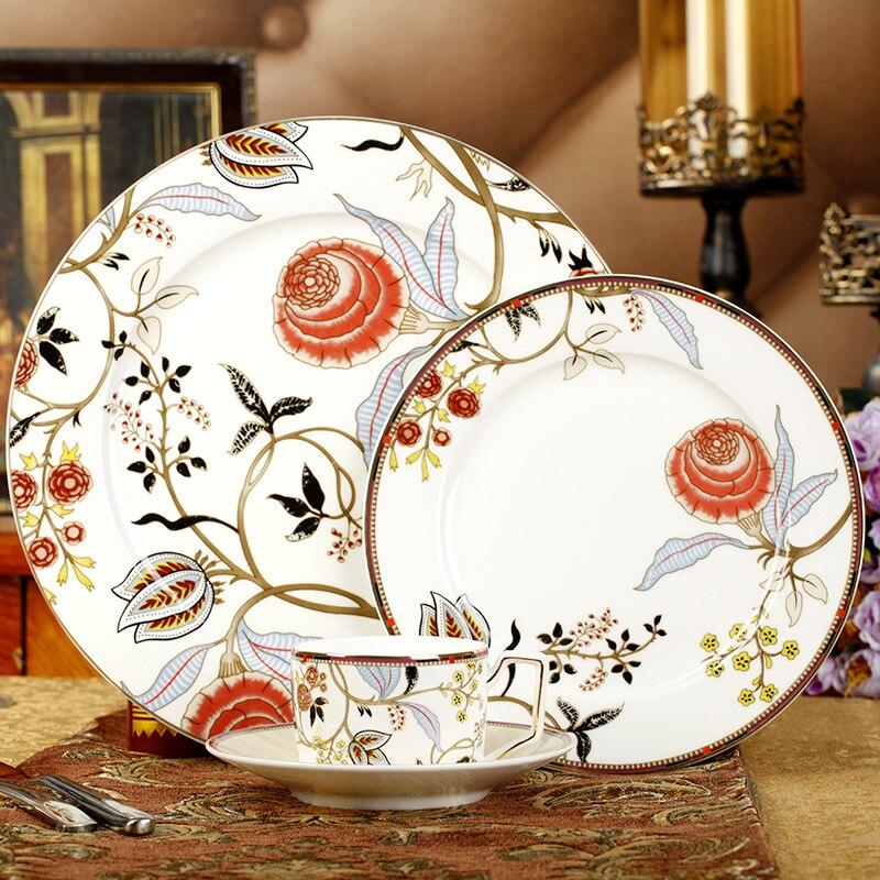 British Europe Bohemia Dinnerware Set Fine Bone China