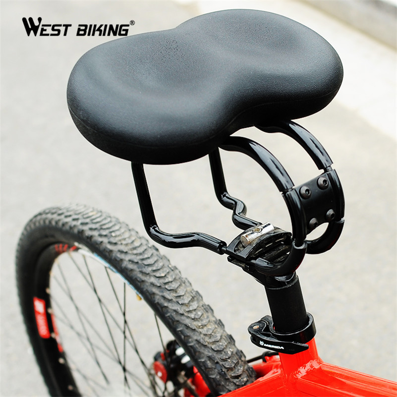 WEST BIKING New Design Shock Resistance Bicycle Seat Saddle PU Leather Cover Soft Cycling Cushion Riding MTB Bike Saddle Seat 1032 shock absorber synthetic resin soft cushion for toilet seat cover transparent 1 x 24 pcs