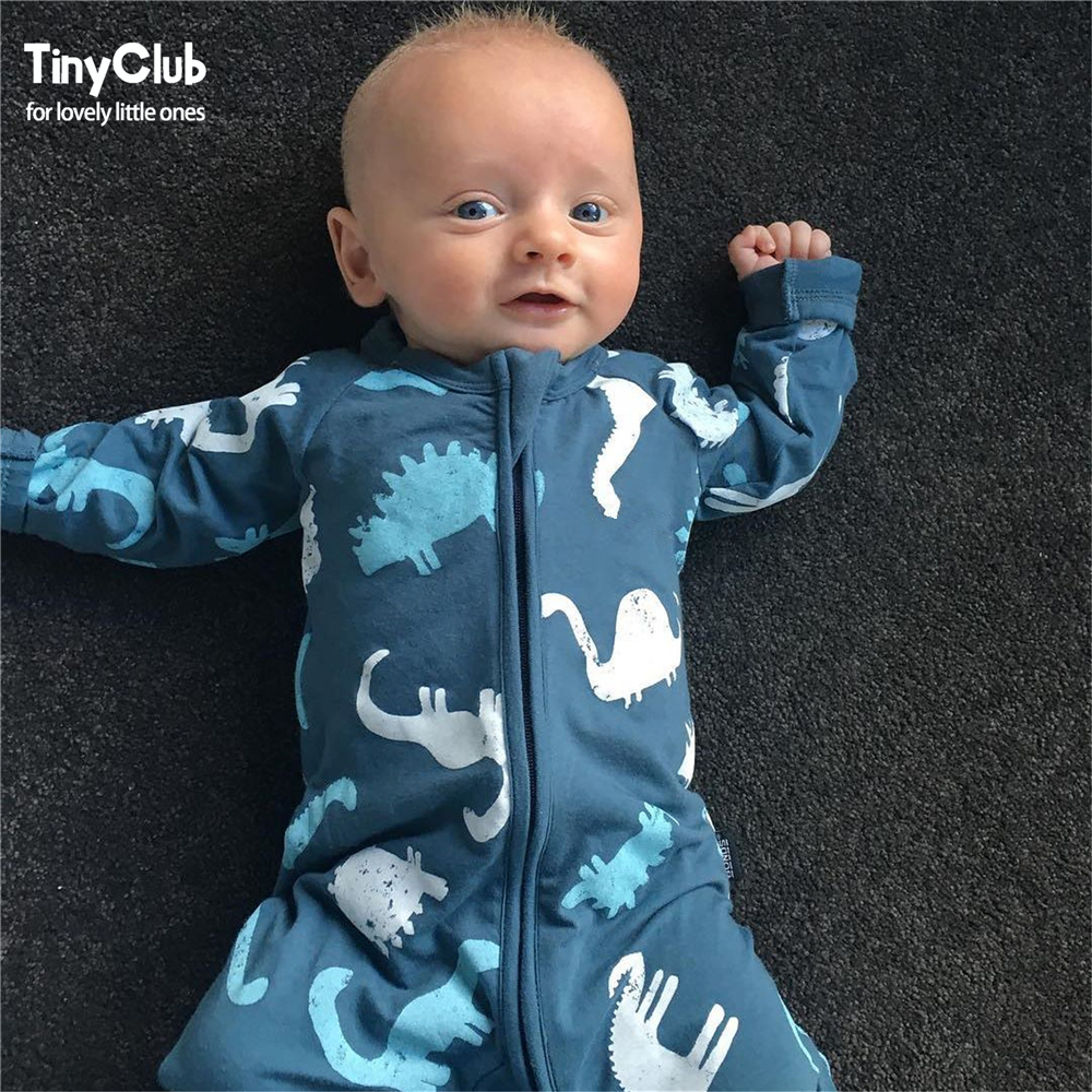Infant Jumpsuit Long Sleeves Cartoon Romper Baby Boy Girl Clothes Tiny Cottons New Born Toddler Onesie Overalls Outfits Pajamas