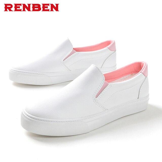 e8d3b931192b € 18.51 38% de DESCUENTO 2018 otoño mujer cuero Mocasines moda Ballet Flats  astilla blanco negro Zapatos mujer slip on Mocasines barco Zapatos ...
