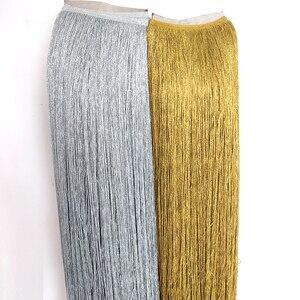 2yards-10yards ouro laço franja guarnição borla 100cm de largura franja aparar para latina vestido palco roupas acessórios laço fita diy