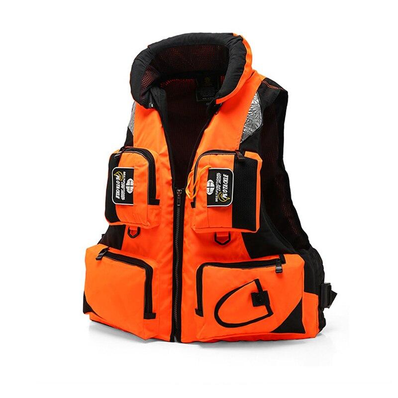 5 couleurs pêche gilet de sauvetage sac à dos hommes respirant mousse natation gilet de sauvetage mouche pêche gilet avec multi-fonction poches