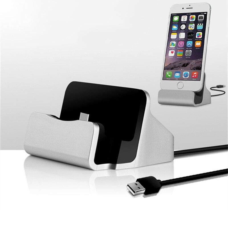 Быстрая зарядка Настольная Синхронизация Колыбель зарядное устройство для iPhone 7 8 Type C Android Samsung Galaxy A50 USB C док-станция Зарядка держатель база