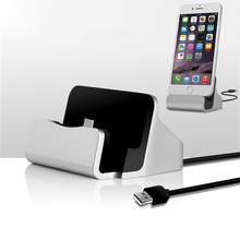 Fast Charge Desktop Sync Cradle Charger For iPhone 7 8 Type C Android Samsung Galaxy A50 USB C Dock Station Charging Holder Base недорго, оригинальная цена