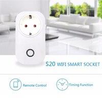 Hot Sonoff S20 Wifi Wireless Remote Control Socket Smart Home Power Socket Via App Phone Smart