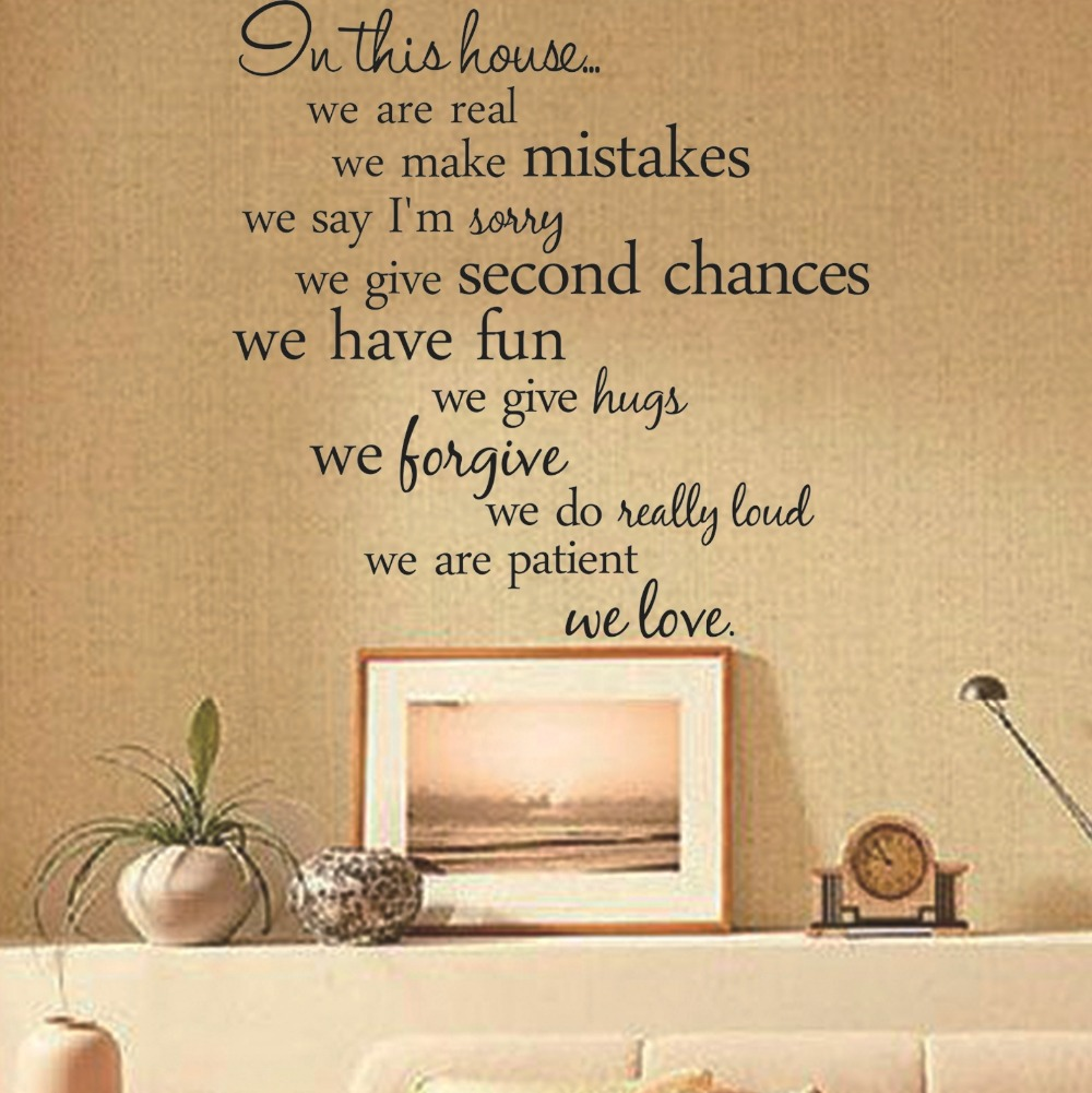 2017 Hot sale house rules quote wall stickers home decor kitchen ...