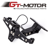 GT Motor Motorcycle Adjustable Angle Aluminum License Number Plate Frame Holder Bracket Universal