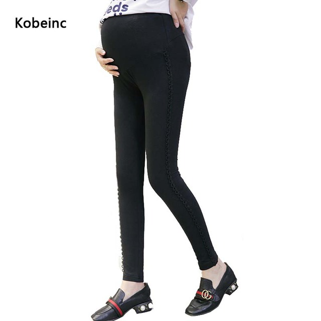 Solid Color Maternity Pants Care Abdomen Leggings For Pregnant Women 2017 Spring Plus Size Hamile Giyim Stretchable Trousers