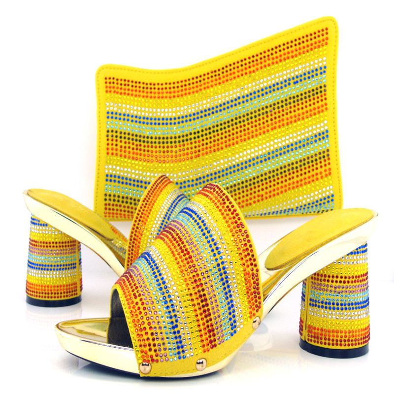 Free shipping by DHL KL813 98 Italian shoes and matching bags African lady shoes with matching