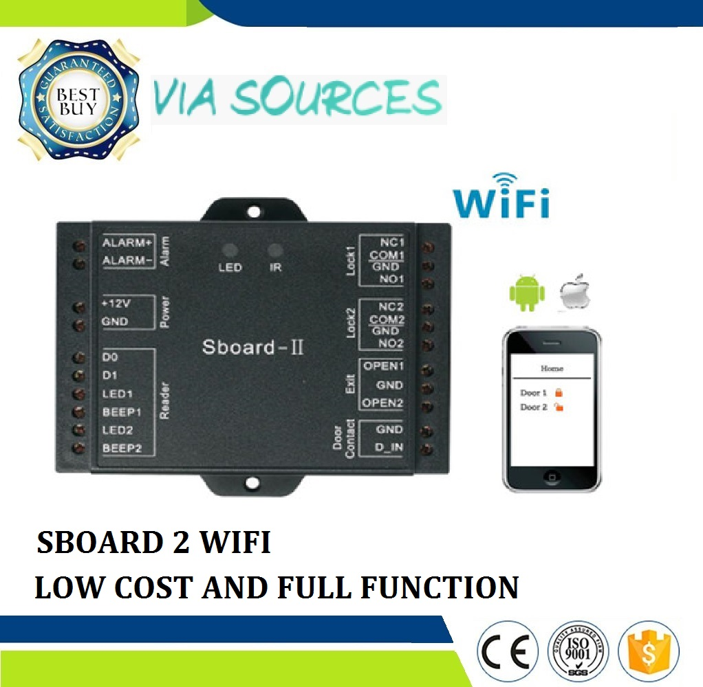 Sboard-II Wifi Direct Factory Door Access Control Dual Relay Access Control Board For Supporting 2100 Users