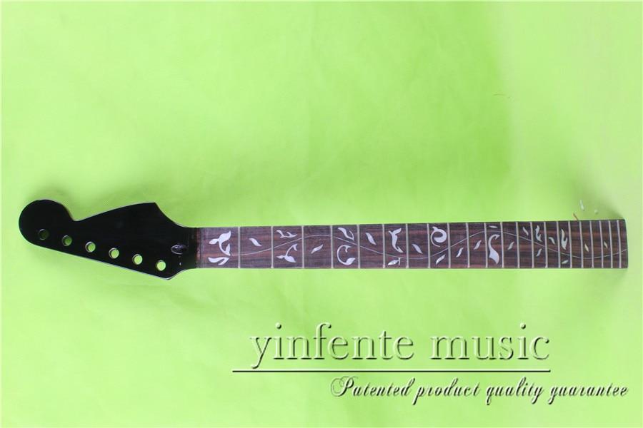 S-00152 # black  color  25.5 Electric guitar neck fine quality   rosewoood  fingerboard 22 fretS-00152 # black  color  25.5 Electric guitar neck fine quality   rosewoood  fingerboard 22 fret